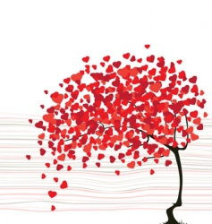 Valentines day abstract with a tree vector