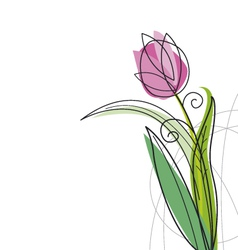Tulip design vector