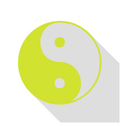 ying yang symbol of harmony and balance pear icon vector image