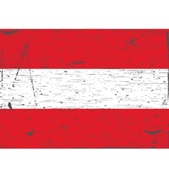 Austria flag grunge vector image