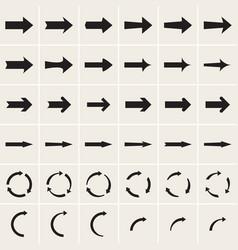 Ser of arrow icons vector