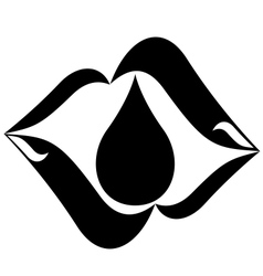 Icon with a drop of oil-1 vector image