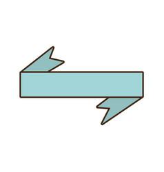 ribbon decoration ornament icon vector image