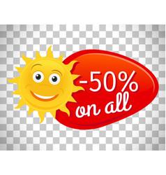 Summer sale label half price vector