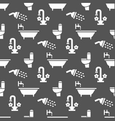 Bathroom or toilet seamless pattern design vector