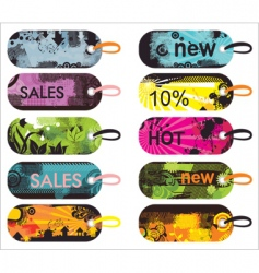 Grunge sale labels vector