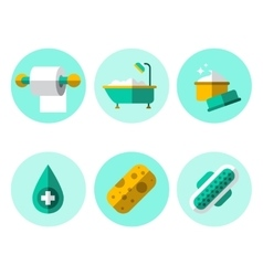 Hygiene icons flat set vector