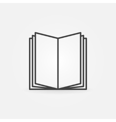 Open book linear icon vector
