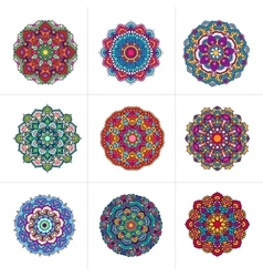 Mandala ornaments set vector