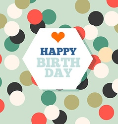 Background with happy birthday typography invite vector