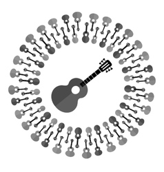 Acoustic guitar silhouette vector