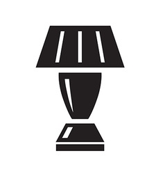 Table lamp black icon on white background vector