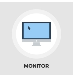 Monitor icon flat vector