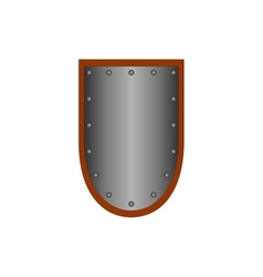 Sign shield silver 1105 vector