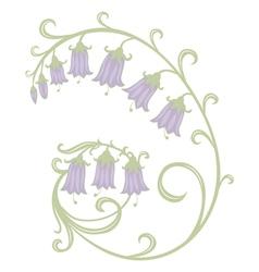 flowers hand bells vector image