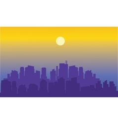 Beautiful city of silhouette vector image
