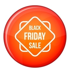 Black friday sale sticker icon flat style vector
