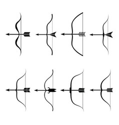 Bow icon set vector