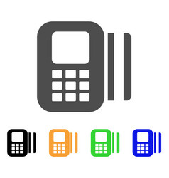 Card reader flat icon vector