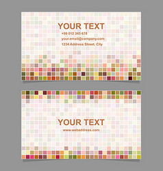 Colorful digital art mosaic business card template vector