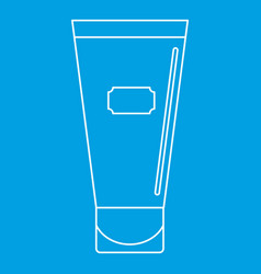 Cosmetic tube of cream or gel icon outline vector