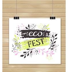 Creative artistic background art invitation eco vector