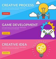 Flat design concept for creative process game vector
