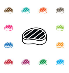 Isolated sirloin icon steak element can be vector