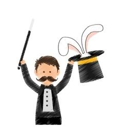 Magician circus cartoon vector image vector image