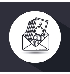 money concept flat design vector image vector image
