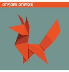Origami isolated animal cute fox vector