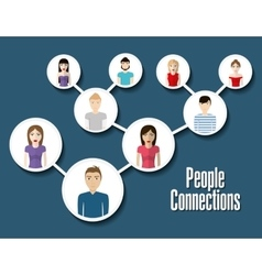 People design Connection icon Colorfull vector image vector image