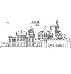 Russia perm architecture line skyline vector