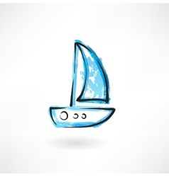 sailfish grunge icon vector image vector image