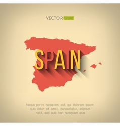 spain map in flat design Spanish border vector image