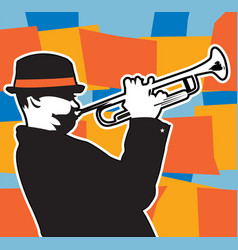 trumpet plater vector image