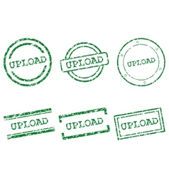 Upload stamps vector image vector image