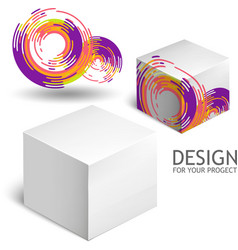 White Package Box Mockup Template vector image vector image