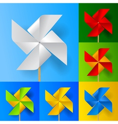 Windmill propeller set vector image vector image