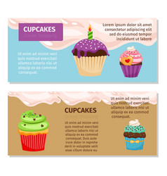 online shopping cupcakes flyers design vector image