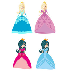 beautiful princess isolated on white background vector image