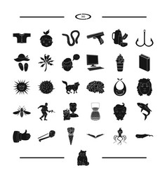 Childhood recreation and other web icon in black vector