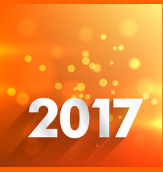 2017 happy new year wallpaper in orange background vector