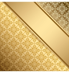 Golden vintage background with gradient vector