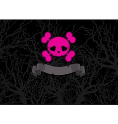 Pink crossbones vector image