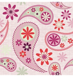 seamless paisley patter vector