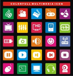 Colorfull multimedia icon vector