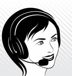 calling female vector image