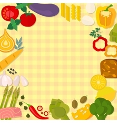 Flat design healthy eating concept vector