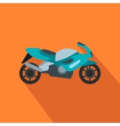 Motorcycle blue flat icon vector